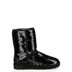 Authentic UGG CLASSIC SHORT SEQUIN BOOT